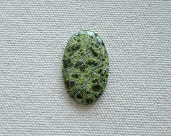 Green Serpentine Stone - Natural Serpentine - Serpentine Cabochon