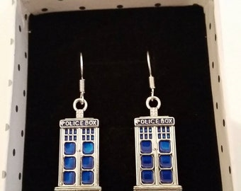 Doctor Who Tardis (Police Box) earrings perfect for every Dr Who fan