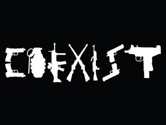 Coexist Gun Sticker Bing Images