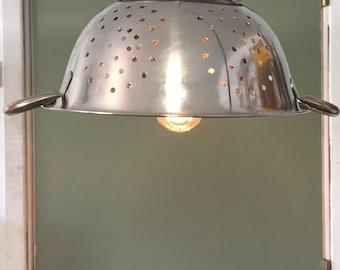 Colander hanging light