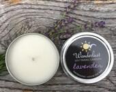 Lavender ~ Soy Travel Candles ~ Wanderlust ~ 2oz tin w/lid