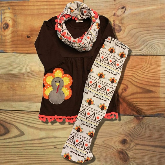 Baby girl clothes thanksgiving outfit aztec by moxiegirlboutique