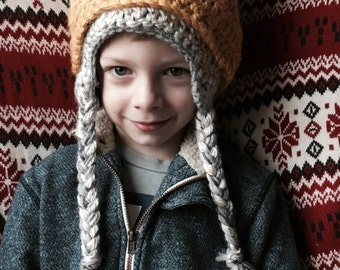 Crochet Max Inspired Hat Deluxe||Wolf Hat||Child's Costume||Boy's Costume||Winter Hat||Max costume||Where the Wild Things Are||King Hat