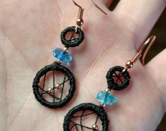 eyecatcher.earrings . copper&blue design