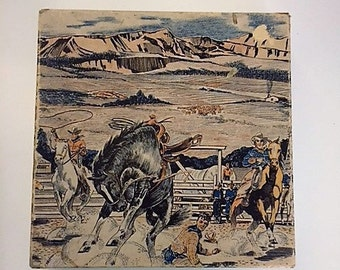 Wooden Jigsaw Puzzle-Western Theme-Vintage