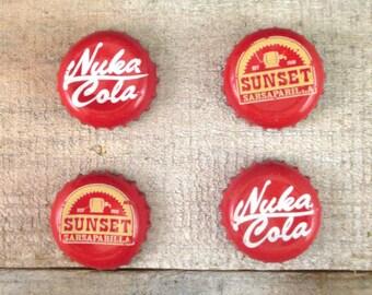 Fallout Magnets, Set of 4 (2 Nuka Cola and 2 Sunset Sarsaparilla), Gamer Decor