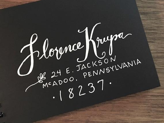 Wedding Calligraphy Envelopes / Custom Handwritten   Placecards, Escort Cards, RSVP envelopes and other Wedding Calligraphy Needs