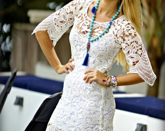 White little dress crochet