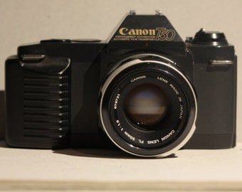 Canon T50 with 50mm f1.8 Lens