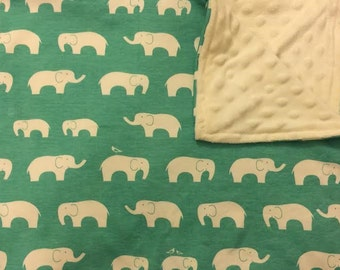 Minky Baby Blanket with Organic Cotton Knit