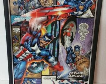 "Captain America 8.5x11"" Comic Collage Portrait"