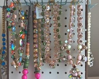 Perfect Pegboard Jewelry Tower - Customizable, Rotating Pegboard Jewelry Organizer