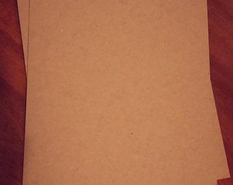 25- A4 8.5 x 11 Kraft Chipboard Paper Sheets. Thick 24pt! Kraft Brown Paper. Chipboard Sheets. Heavy-weight Paper. Blank Kraft Chipboard.