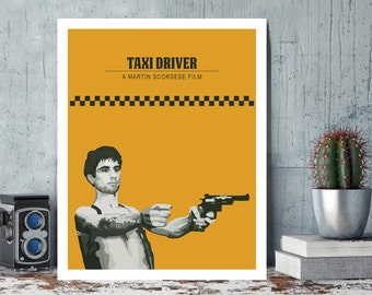 Taxi Driver, Robert De Niro, Martin Scorsese, Minimal Movie Poster.