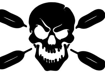 Skull with oars Decal
