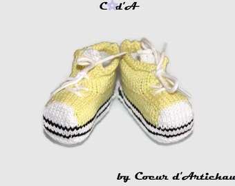 PROMO outstanding slippers baby/sneakers rising yellow size 0/3 months