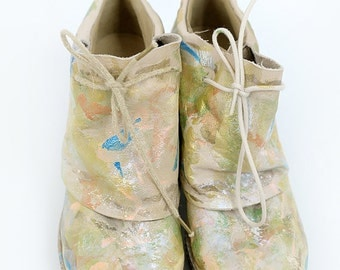 hand painted boots