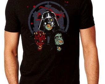 Star Wars Dark Side Zombie T-shirt - StarWars Themed Comedy Halloween Costume