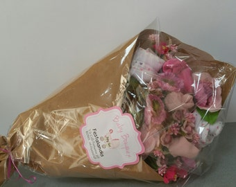 baby bouquet baby accessories available in pink or blue chose variants