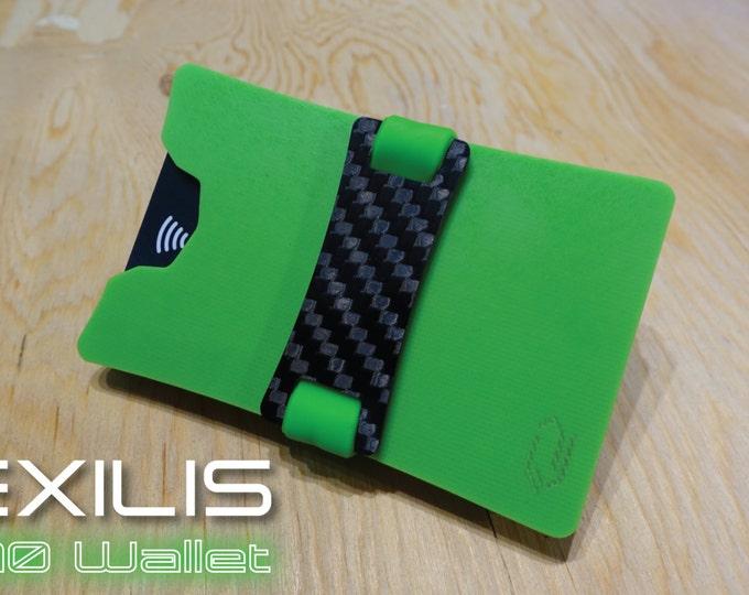 Lime Green Dual-Plate G10 Wallet, Slim Wallet, Minimalist Wallet, Money Clip, Credit Card Holder, EXILIS Wallet