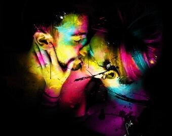 Colorful pop art- Paper Poster