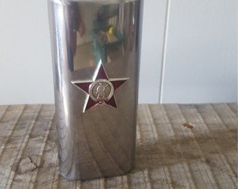 Vintage Russian Stainless Steel Flask
