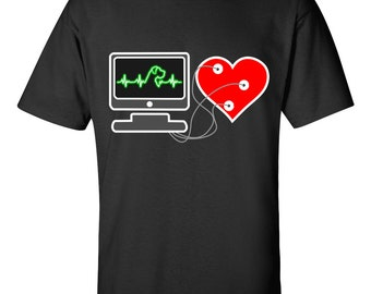 Great Dane Heartbeat | Funny Great Dane T-shirt | Great Dane | My Heart beats for my Great Dane | Uncropped ears