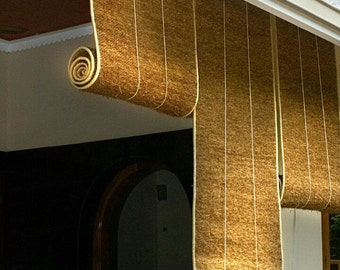 Vetiver Roll Curtains