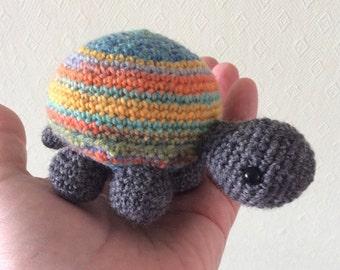 Crochet Tortoise Amigurumi, Colourful Shell