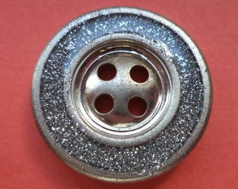 20 mm (2406) metal button buttons 5 metal buttons silver