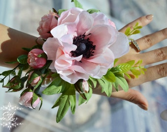 Wrist Corsage, Floral Prom Corsage, Wedding Wrist Corsage, Wedding Flowers, Bridesmaids Wrist Corsage, Pink Bridal Corsage