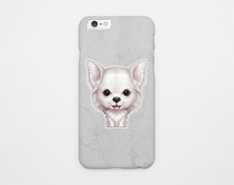 Long Haired Chihuahua iPhone case - Gift for Chihuahua Lover, Chihuahua iPhone 4s case,  Chihuahua iPhone 5 case,  Chihuahua iPhone 6 case