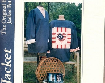 4th of July Original Button-Up Jacket Pattern and Insert by Thread Bare Pattern, Sz Large UNCUT