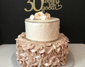 Th Birthday Etsy - 30 year old birthday cake