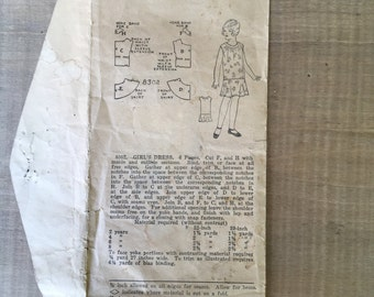 Original 1900s Child's Dress Pattern Sz6
