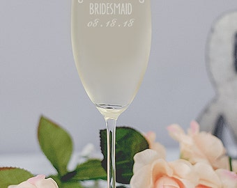 Bridesmaid Champagne Flutes, Custom Champagne Glasses, Bridesmaid Gift, Will You Be My Bridesmaid, Toasting Champagne Flutes, Wedding Party