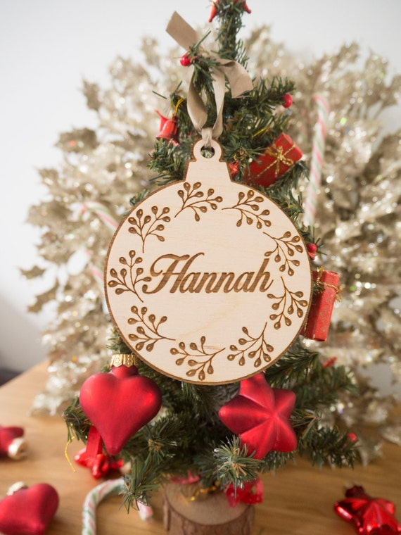 custom wood christmas ornament