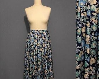 1990s Floral midi skirt