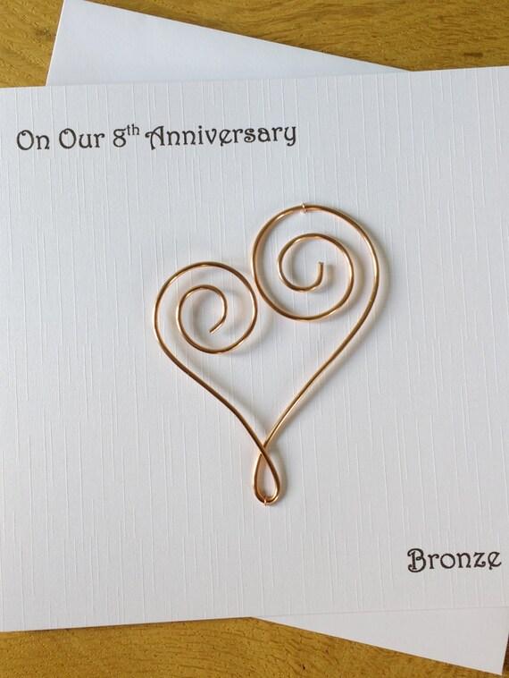Th anniversary card eight years bronze wedding