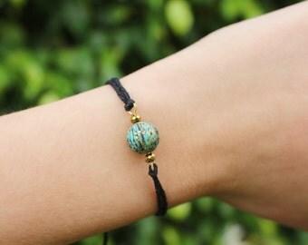 bohemian bracelet, turquoise bracelet, stackable turquoise bracelet
