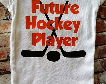 Future hockey player onesie, hockey onesie, boys onesie, funny onesie