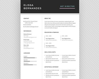 "Resume Template / CV Template + Cover Letter for MS Word and Photoshop | Instant Digital Download - ""Capella"""