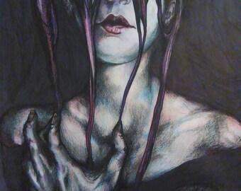 Nightmare. Wall Art. Decor. Art Print