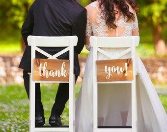 Wedding thank you signs, wedding thanks sign photo prop, wooden wedding signs, rustic wedding decor, woodland wedding decor wedding signage