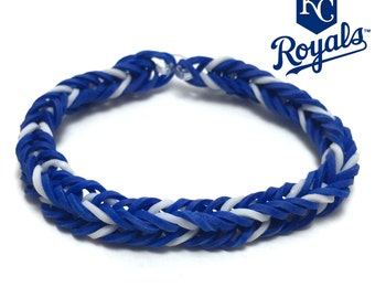 Kansas City Royals Rubber Band Bracelet - Fishtail Design