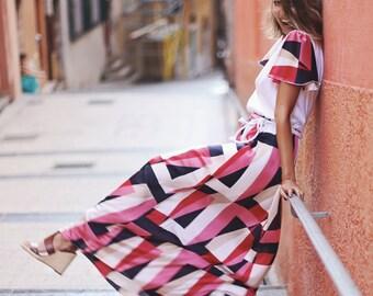 Robe «Brit» / longue robe / été robe / fait à la main en france / robe / robe style rétro / robe de plage
