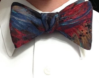 Multicolor Feathered Bow Tie
