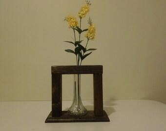 Centerpiece Wooden Flower Vase