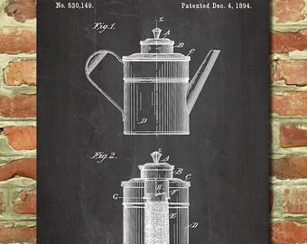 Coffee Decor, Coffee Poster, Coffee Wall Art, Coffee Wall Decor, Kitchen Art, Kitchen Wall Art, Coffee Shop Decor, French Press Print P025