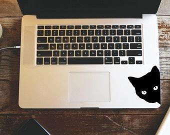 Black cat decal sticker